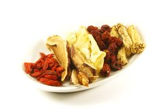 Traditional Chinese Herbs Royalty Free Stock Images
