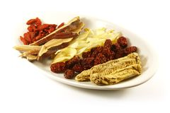 Traditional Chinese Herbs stock photo
