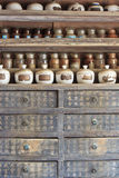 Traditional Chinese  herbs equipment Royalty Free Stock Photo