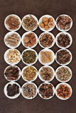 Traditional Chinese Herbs Royalty Free Stock Photography
