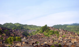 Traditional Chinese house building at Guizhou,west China Stock Photography
