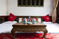 Traditional Chinese House Interior Stock Photo