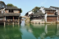 Traditional  Chinese Jiangnan Style Residential Houses Royalty Free Stock Image
