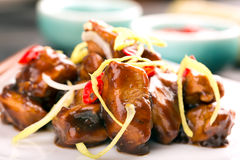 Traditional chinese kung pao chicken Stock Photography