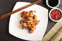 Traditional chinese kung pao chicken Stock Images