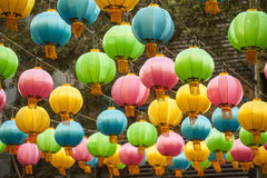 The traditional Chinese lanterns. Royalty Free Stock Photo