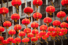 The traditional Chinese lanterns. Stock Images