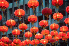 The traditional Chinese lanterns. Stock Photos