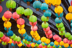The traditional Chinese lanterns. Royalty Free Stock Photos