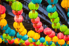 The traditional Chinese lanterns. Stock Photography