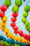 The traditional Chinese lanterns. Royalty Free Stock Photography