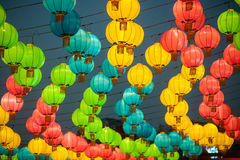 The traditional Chinese lanterns. Royalty Free Stock Image