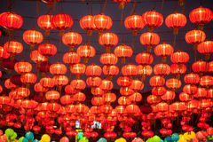 The traditional Chinese lanterns. Stock Photo