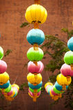 The traditional Chinese lanterns. Royalty Free Stock Images
