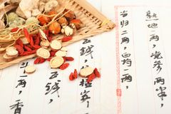 Traditional Chinese medicine Royalty Free Stock Photos