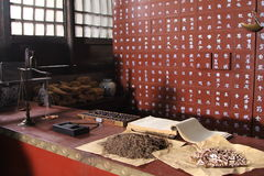 Traditional Chinese medicine. In china Royalty Free Stock Photos