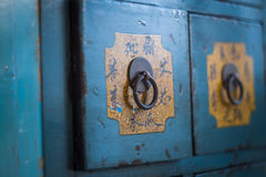 Traditional Chinese medicine cabinet. S are valuable stock image