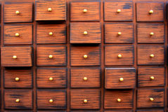 Traditional Chinese medicine chest Stock Photography