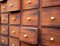 Traditional Chinese medicine chest Royalty Free Stock Photo