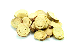 Traditional Chinese Medicine - Gancao ( Chopped licorice root) Stock Photos