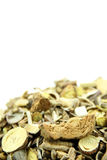 Traditional Chinese Medicine. Isolated on white background Royalty Free Stock Photo