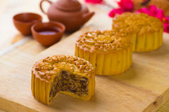 Traditional Chinese mid autumn festival food Royalty Free Stock Image