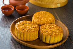 Traditional Chinese mid autumn festival food Stock Image