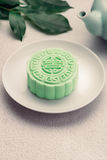 Traditional Chinese mid autumn festival food. Snowy skin mooncakes. Royalty Free Stock Image