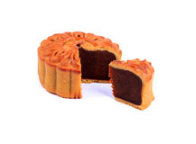 Traditional Chinese mooncake Royalty Free Stock Photos