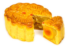 traditional chinese mooncake and cutout Stock Photo