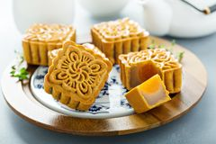 Free Traditional Chinese Mooncakes Royalty Free Stock Images - 125297249