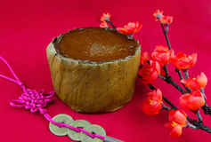 Traditional Chinese New Year Cake. Nian Gao or Chinese New Year Glutinous Rice and Sugar Cake