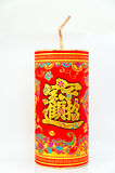 Traditional chinese new year decoration. Firecrackers, chinese character means making a lot of money Royalty Free Stock Photo