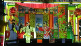 Traditional Chinese opera in Thailand. Chinese opera show in Thailand Stock Images