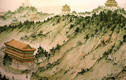 Traditional Chinese painting stock image