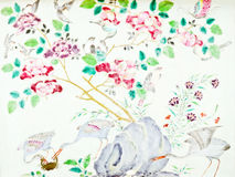 Traditional Chinese painting art Stock Images
