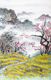 Traditional Chinese painting , landscape Royalty Free Stock Image