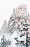 Traditional Chinese painting , landscape Royalty Free Stock Photography