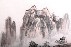 Traditional Chinese painting , landscape Stock Photo