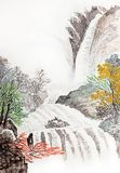 Traditional Chinese painting , landscape, Royalty Free Stock Photography