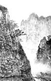 Traditional Chinese painting , landscape Royalty Free Stock Images
