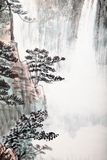 Traditional Chinese painting , landscape Stock Images