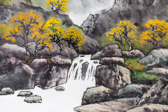 Traditional Chinese painting Royalty Free Stock Photography