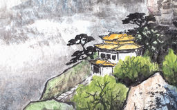 Traditional Chinese painting Stock Photography