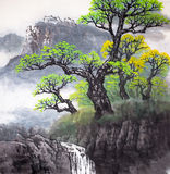 Traditional Chinese painting. A piece of traditional Chinese painting Stock Photo