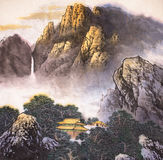 Traditional Chinese painting Stock Photos