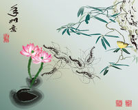 The traditional Chinese painting Stock Image