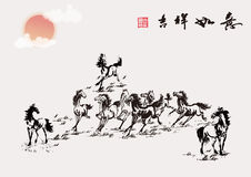 The traditional Chinese painting Stock Photography