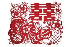 Traditional Chinese Paper-cut Royalty Free Stock Photos