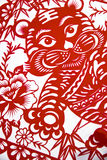 The traditional Chinese paper-cut art Royalty Free Stock Image